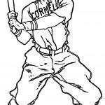Baseball Player Man Baseball Coloring Page