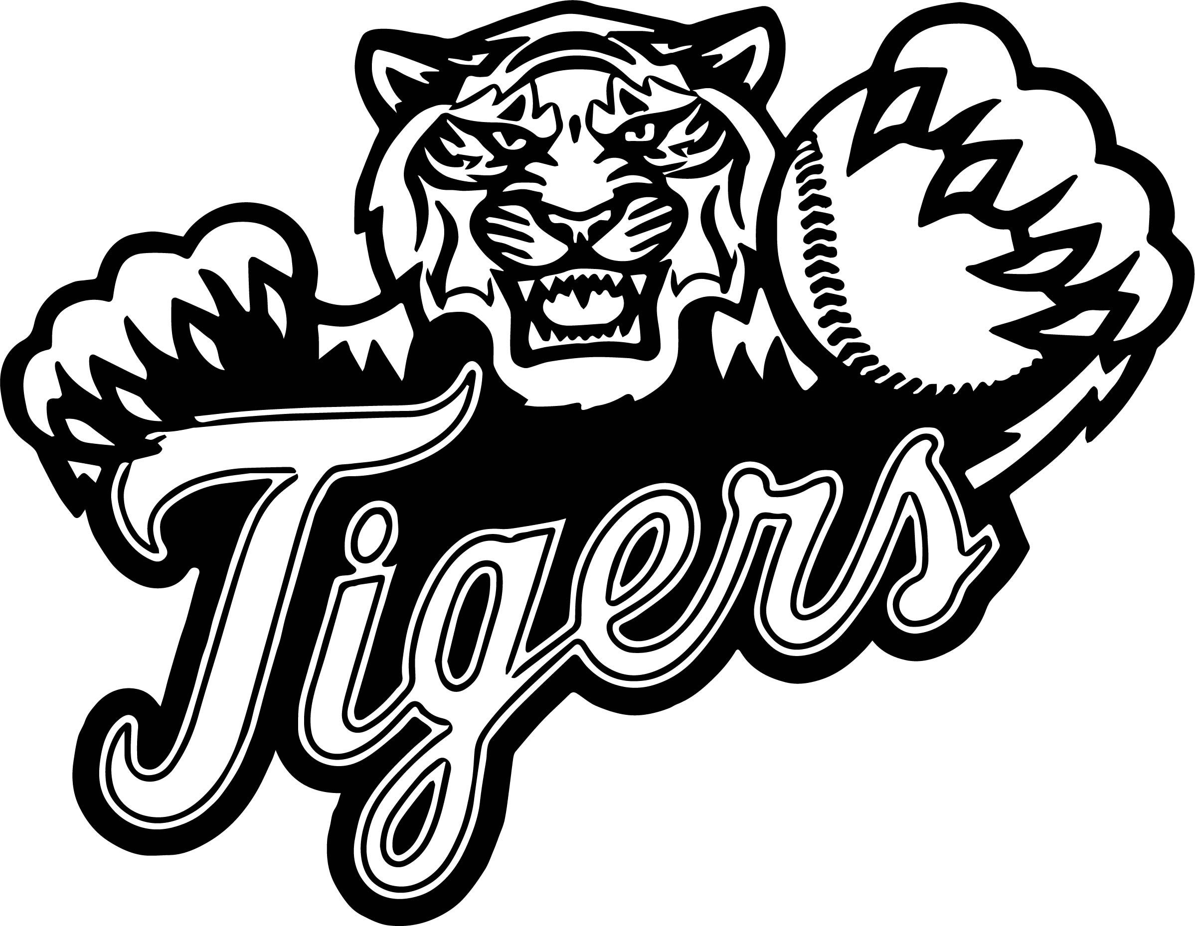 Baseball Tigers Playing Baseball Coloring Page Wecoloringpage