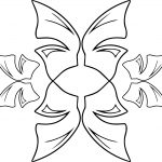 Basic Butterfly Abstract Coloring Page