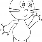 Basic Easy Cat Coloring Page
