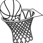 Basketball Basket Graphics Musthavemenus Found Coloring Page