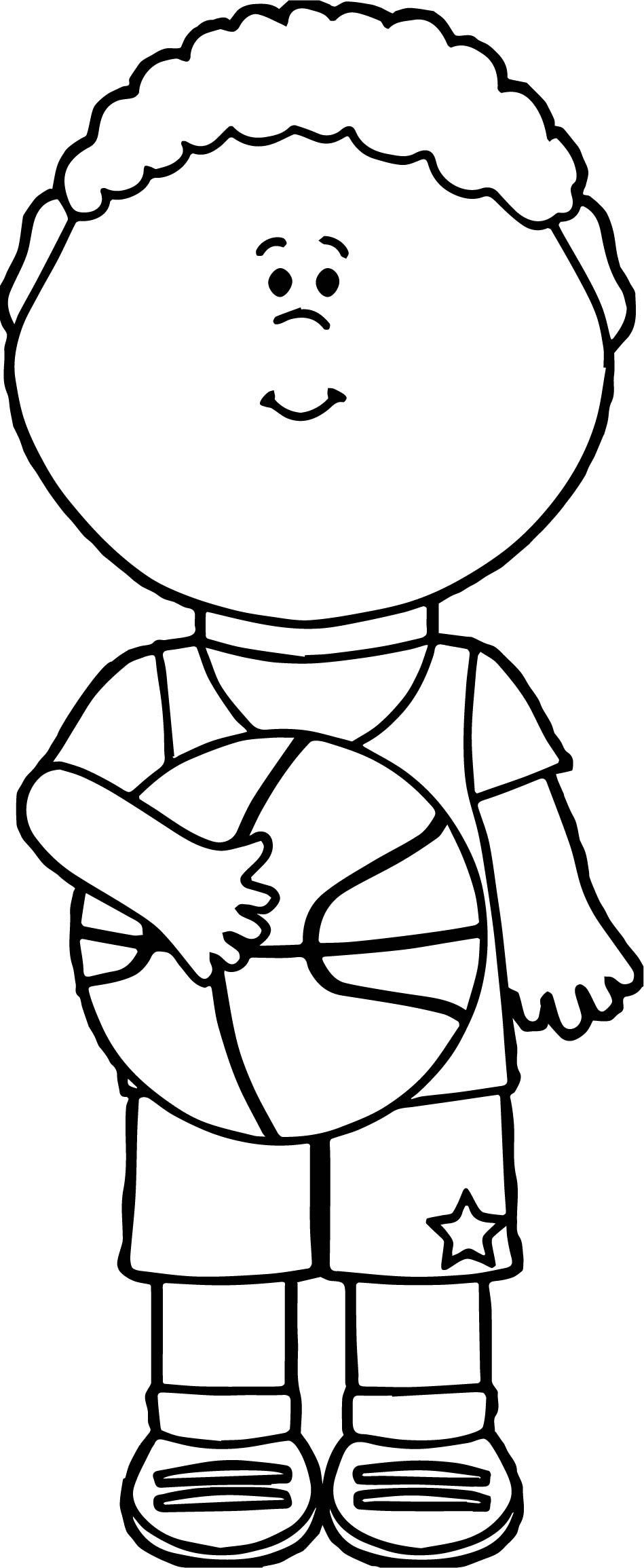 basketball player coloring pages best vector of a cartoon black