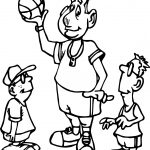 Basketball Players Playing Basketball Coloring Page