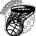 Basketball Playing Basketball Coloring Page