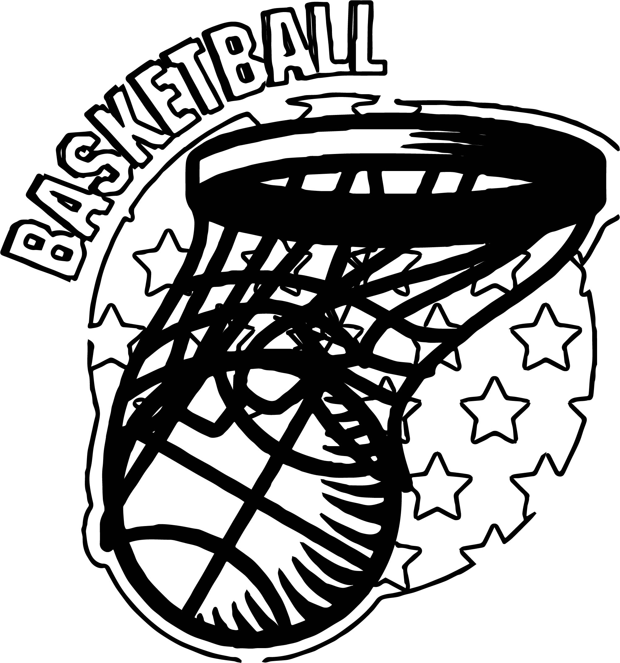 Basketball Playing Basketball Coloring Page