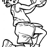 Basketball Playing Class School Coloring Page