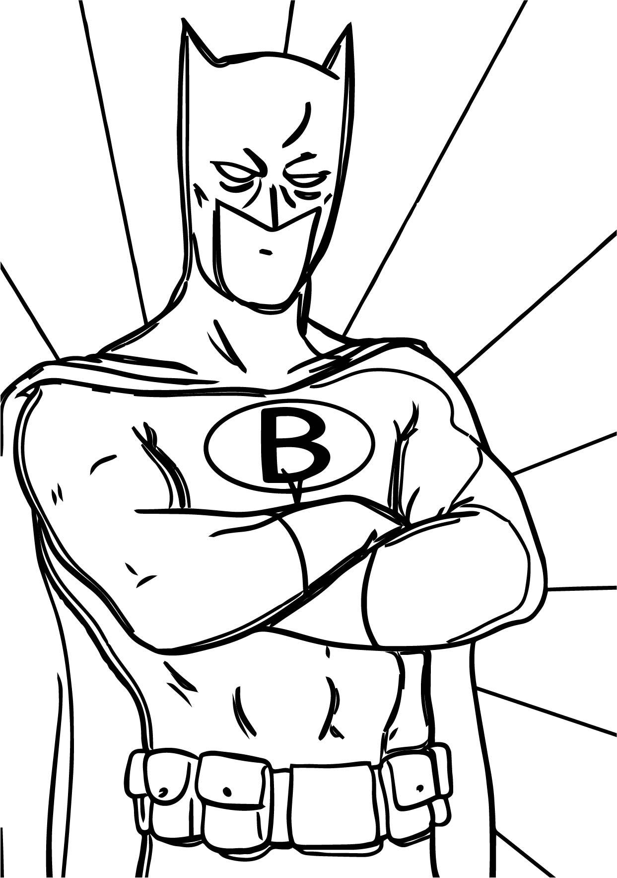 Batman Cartoon Superheroes Coloring Page
