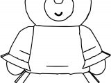 Bear Girl Cartoon Coloring Page