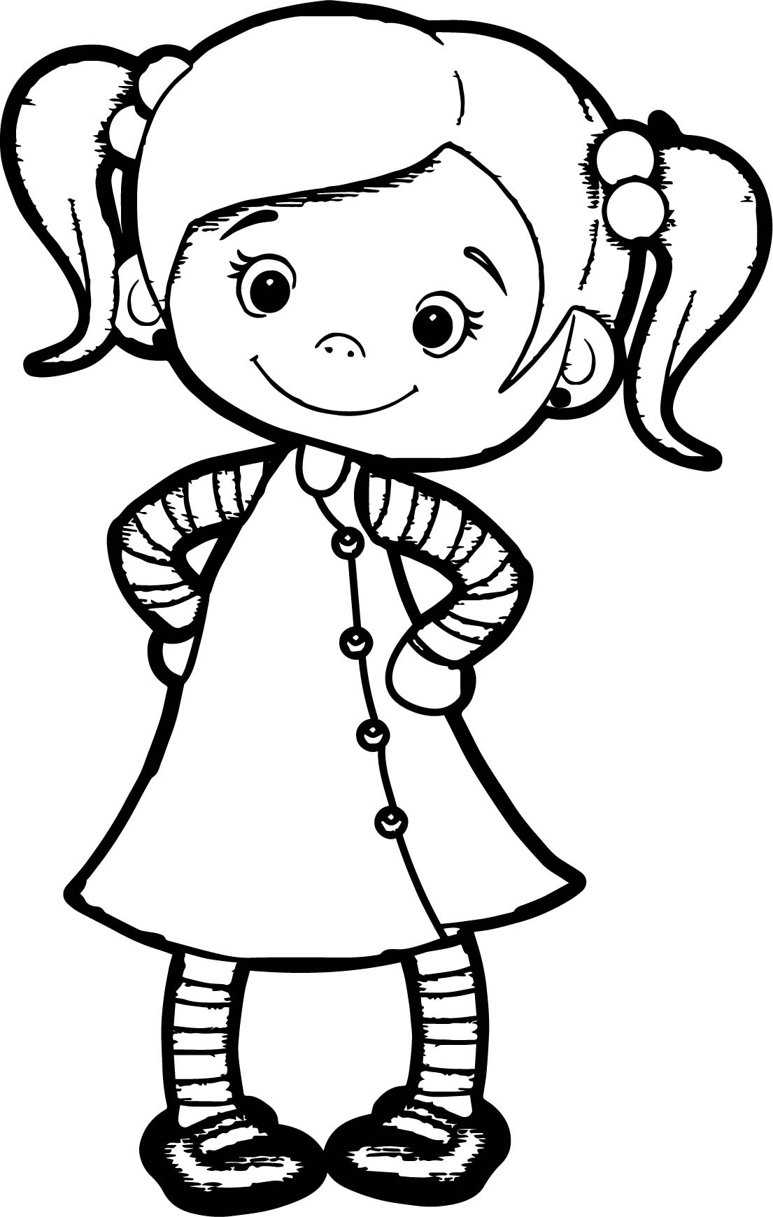 Beautiful Cute Girl Coloring Page | Wecoloringpage