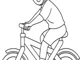 Bicycle Rider Wearing Helmet Boy Classroom Coloring Page