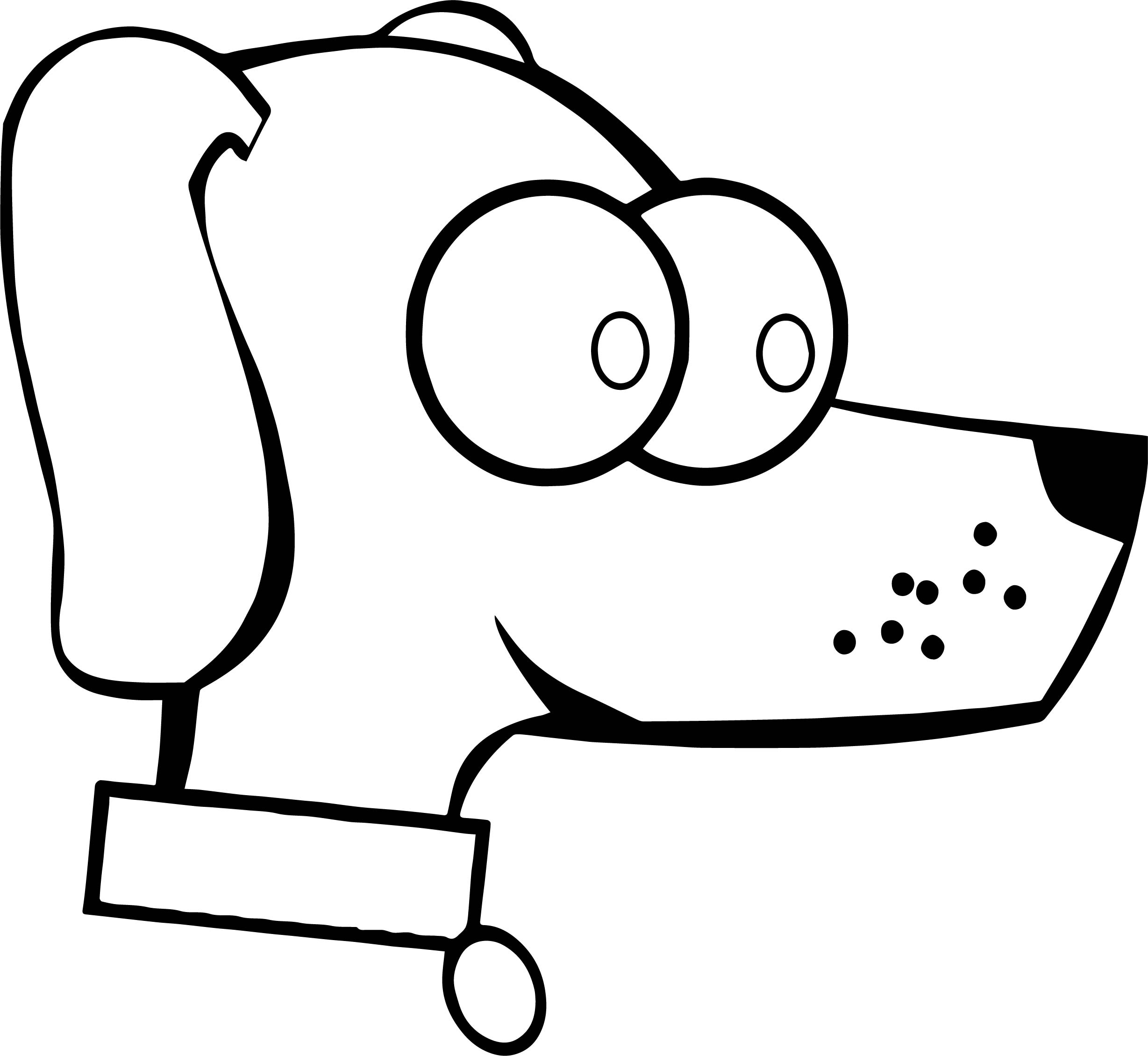 Big face puppy dog coloring page for Dog face coloring page