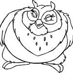 Big Mama Bird Coloring Page