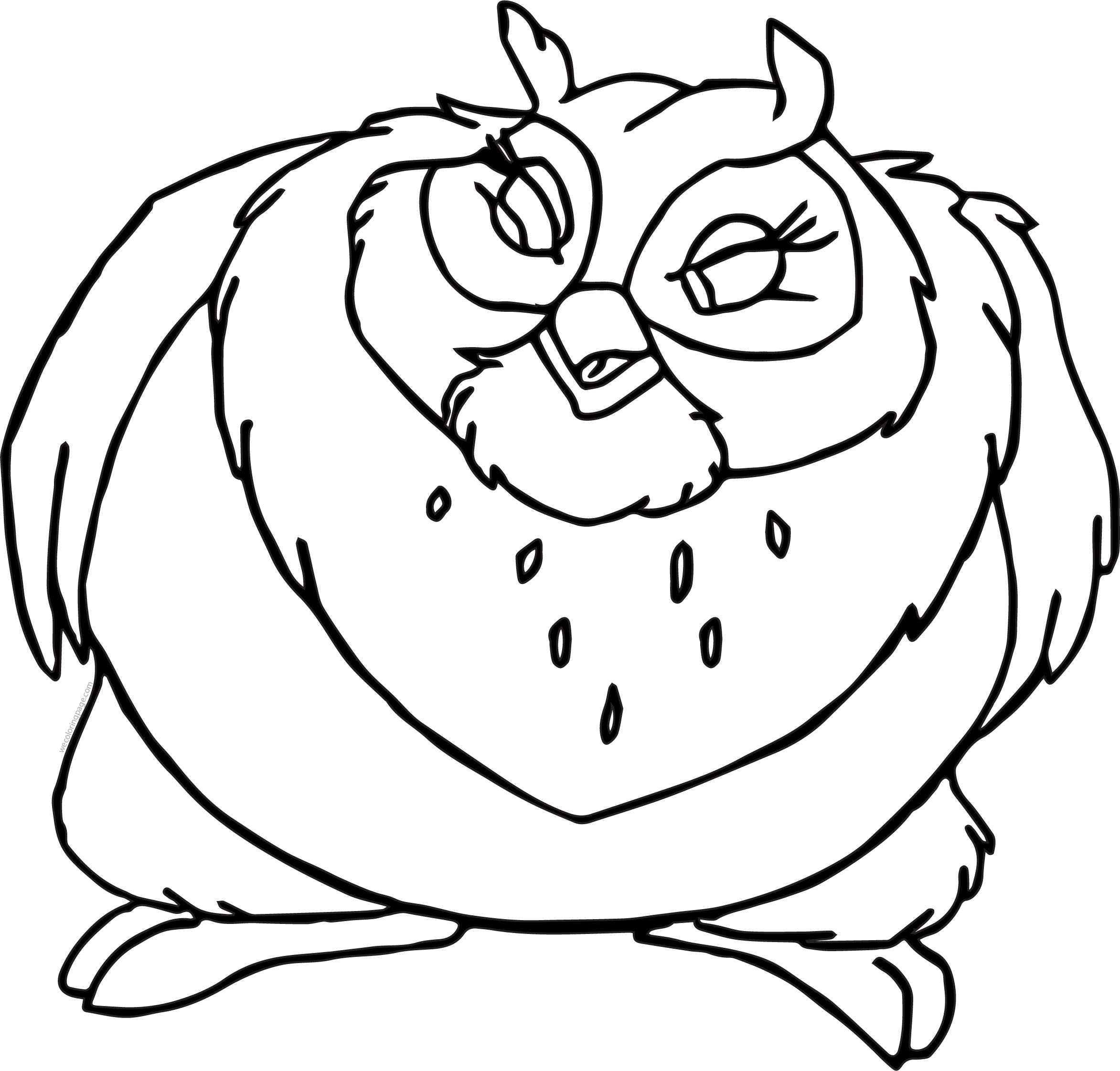 Big Bird Face Coloring Page