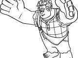 Big Wreck It Ralph Adventures Coloring Page