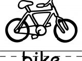 Bike Abc Teach Coloring Page