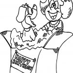 Birthday Puppy Dog Coloring Page