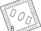 Board Checkers Coloring Page