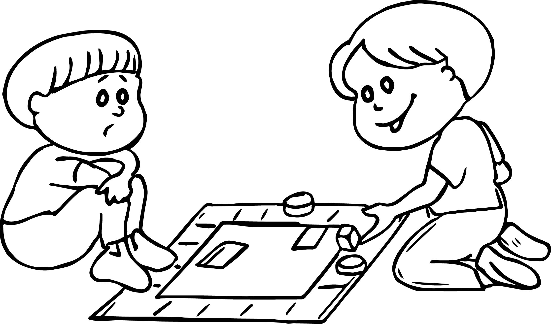 Board game loss coloring page for Coloring pages games