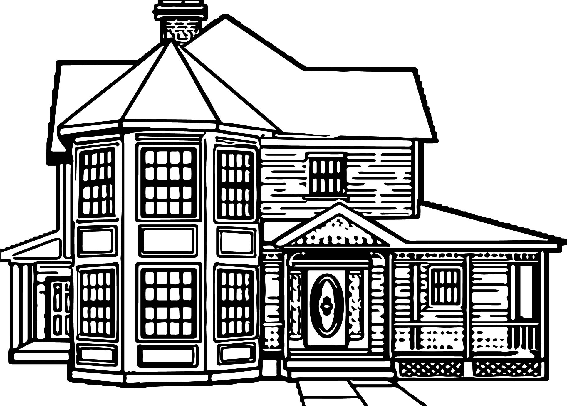 Board Home Coloring Page