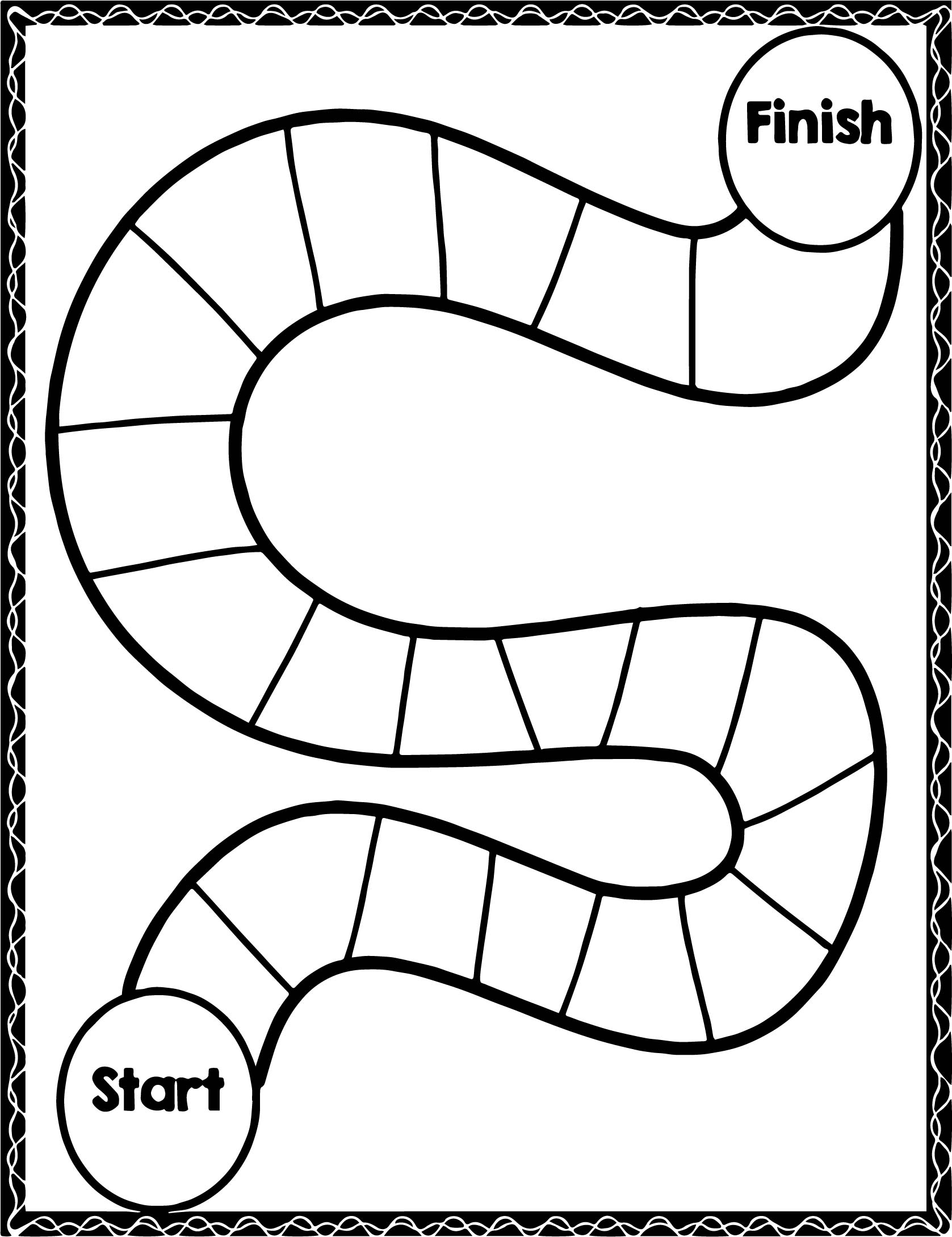 Board Start Finish Picture Coloring Page