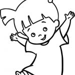 Boo Beautiful Girl Coloring Pages