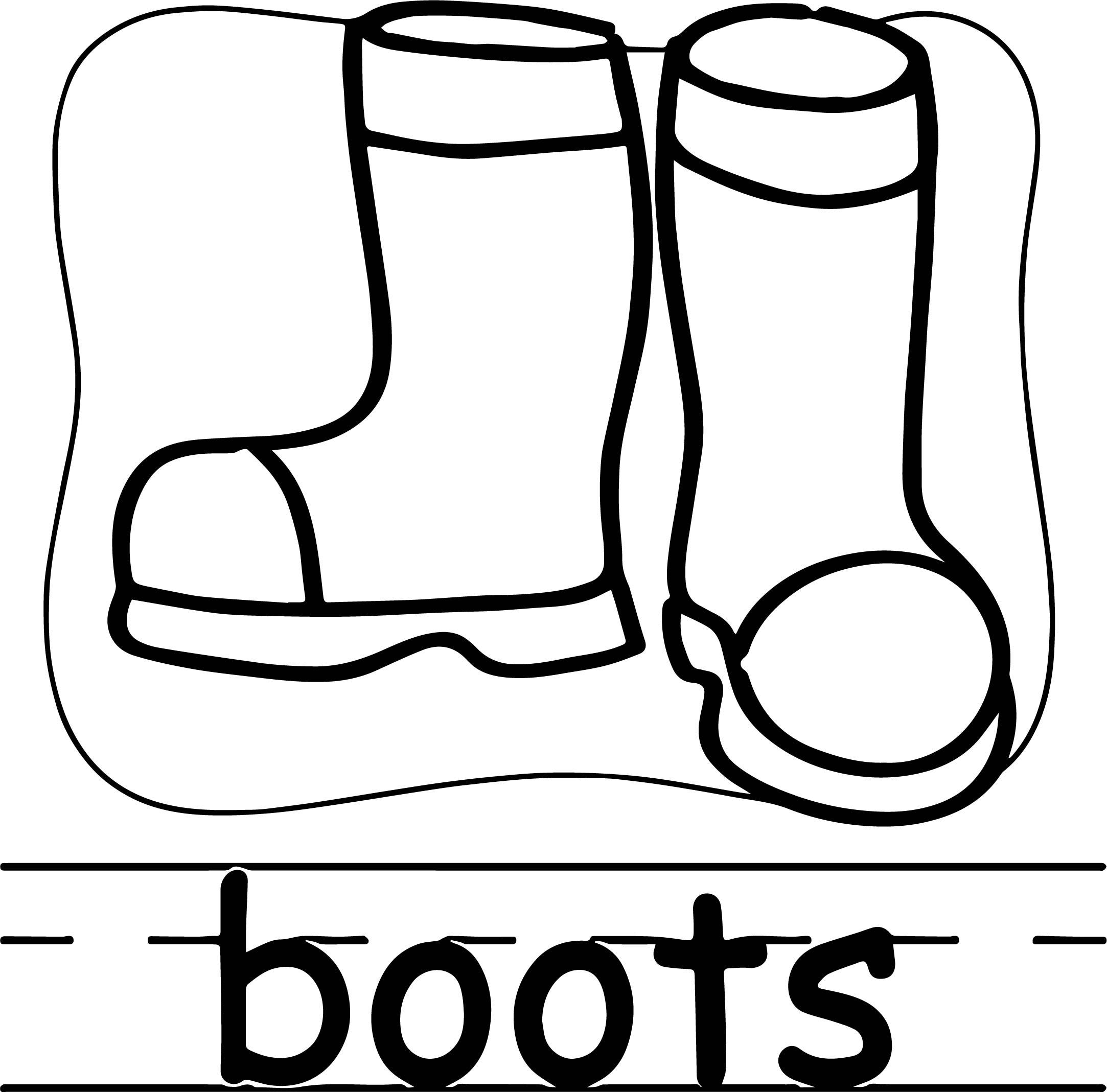 99 ideas Boot Coloring Page on wwwkankanwzcom