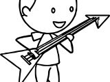 Boy Playing The Electric Guitar Coloring Page