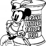 Brave Little Tailor Mickey Coloring Page