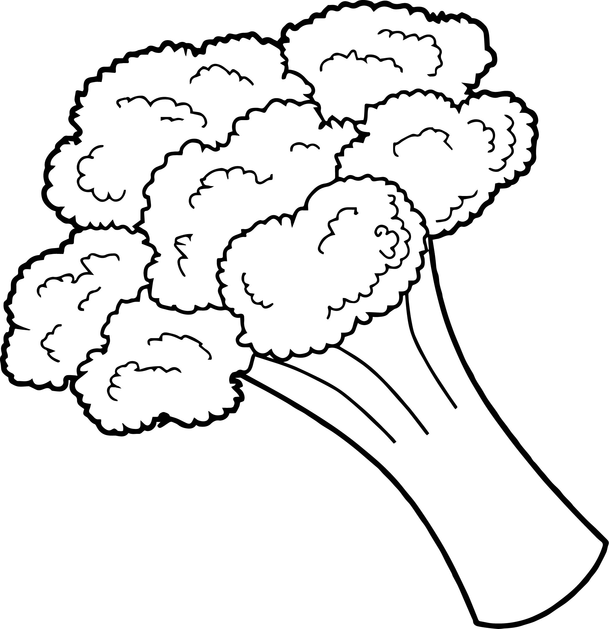 broccoli vegetable coloring page wecoloringpage