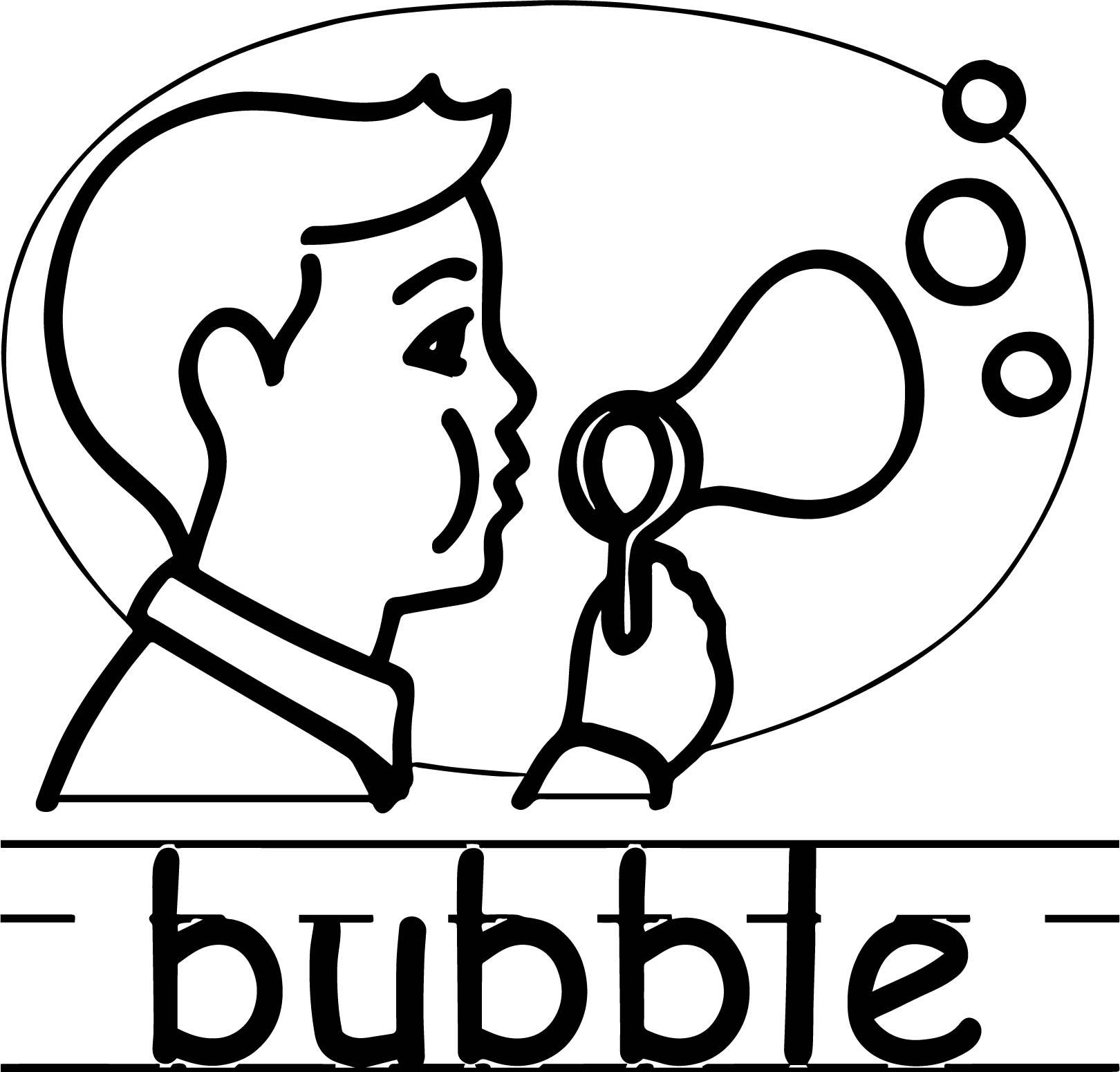 Bubble Abc Teach Coloring Page