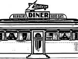 Burgers Diners Good Eats Stella Restaurant Coloring Page