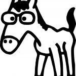 Cartoon Arabian Horse Coloring Page