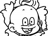 Cartoon Baby Boy Coloring Page