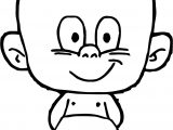 Cartoon Baby Smile Boy Coloring Page