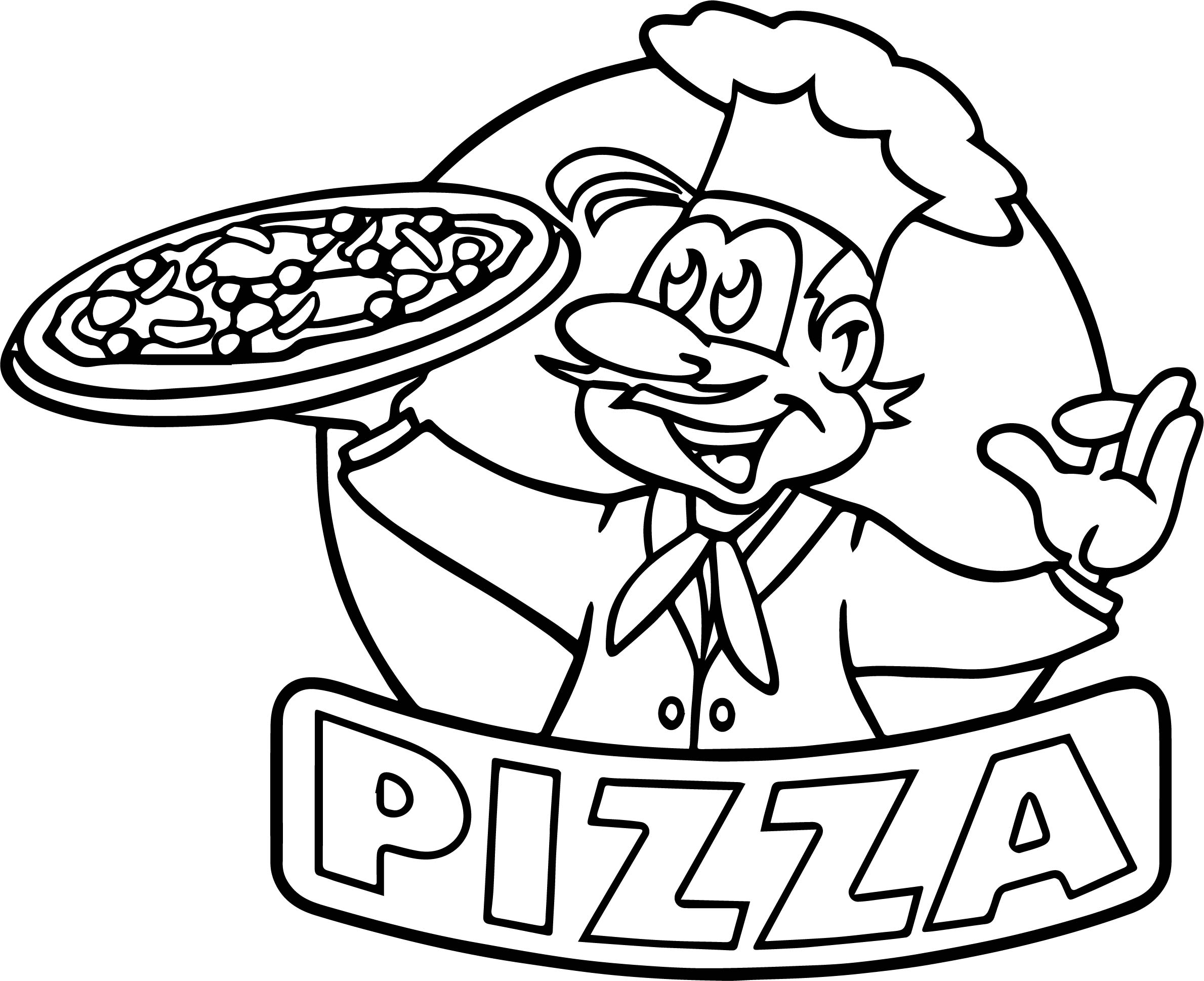 Cartoon Picture Of Pizza Coloring Page | Wecoloringpage