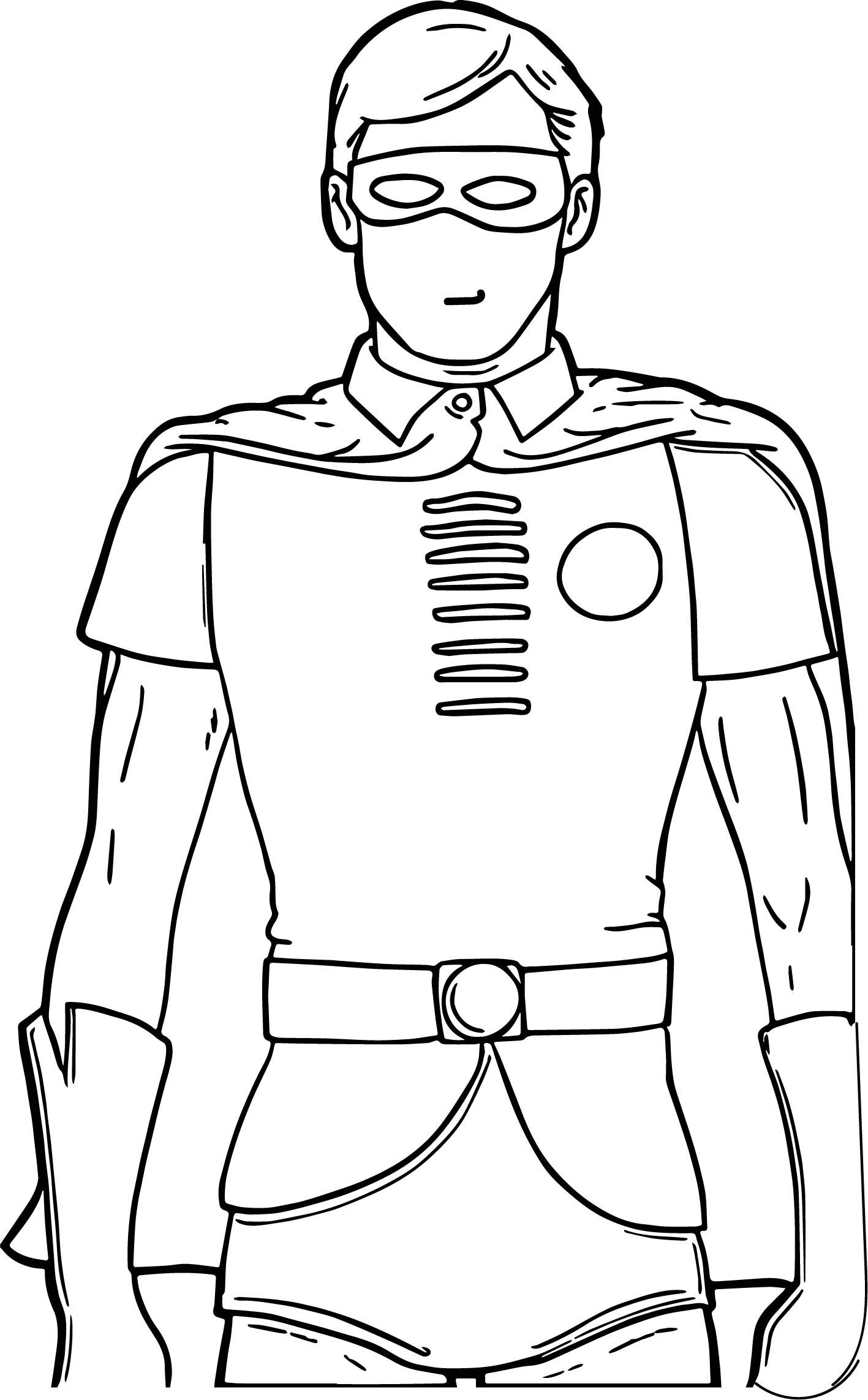 Cartoon Robin Coloring Page