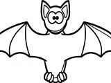 Cartooon Vampire Bat Coloring Page