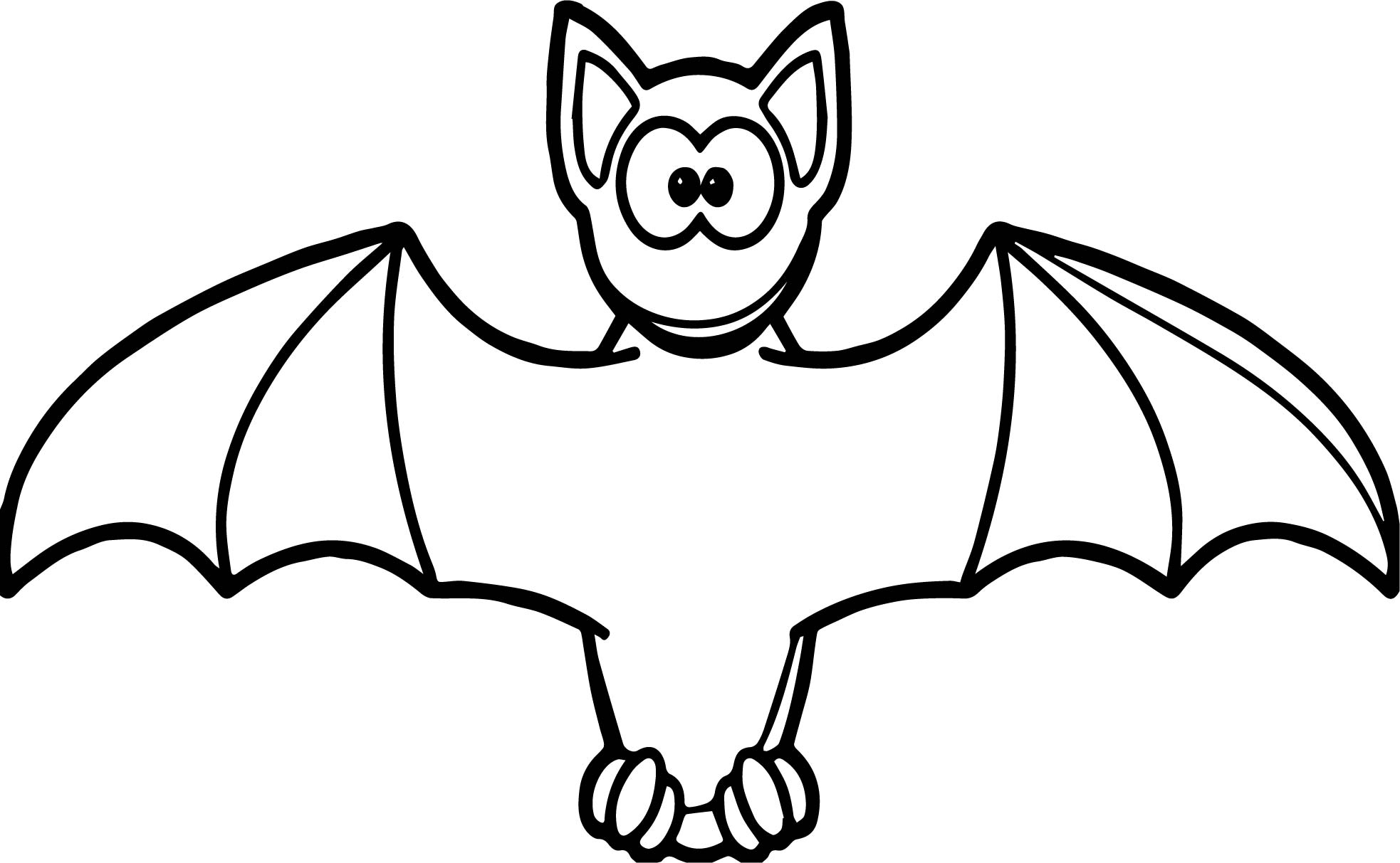 Cartooon vampire bat coloring page for Bats coloring pages
