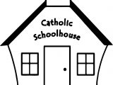 Catholic Schoolhouse Faith Home All Saint Day Coloring Page