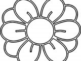 Center Illustration Of A Flower With Coloring Page