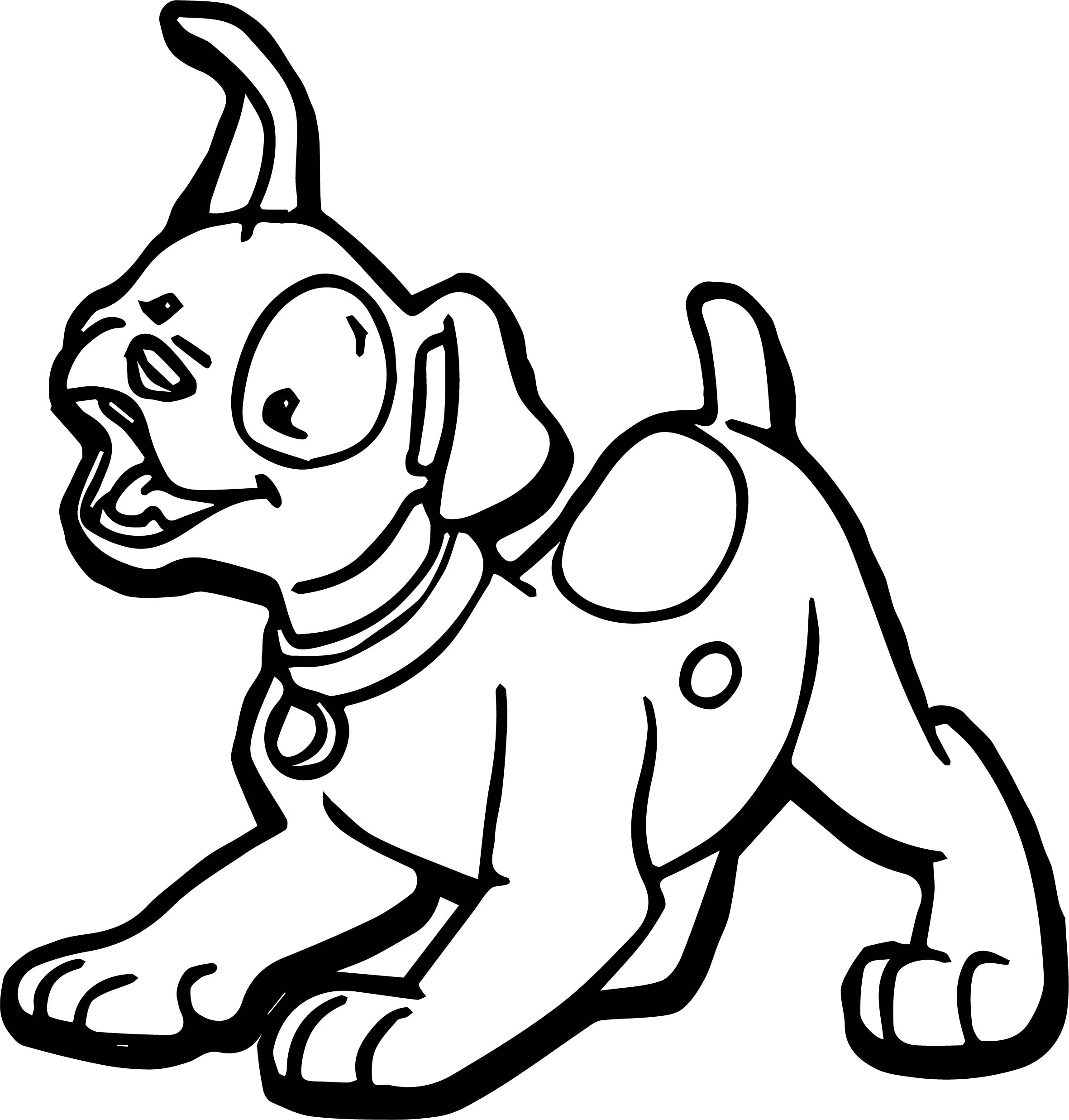 Chauffeur Puppy Dog Coloring Page