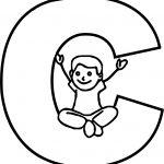 Children Alphabet C Letter Coloring Page
