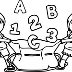 Children Cartoon Best Abc 123 Coloring Page