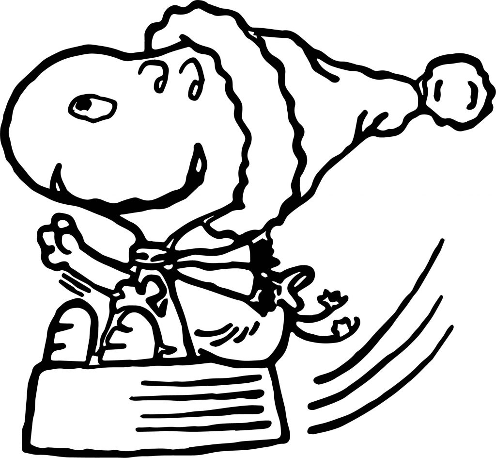 Christmas Snoopy Coloring Page