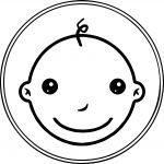 Circle Baby Boy Coloring Page