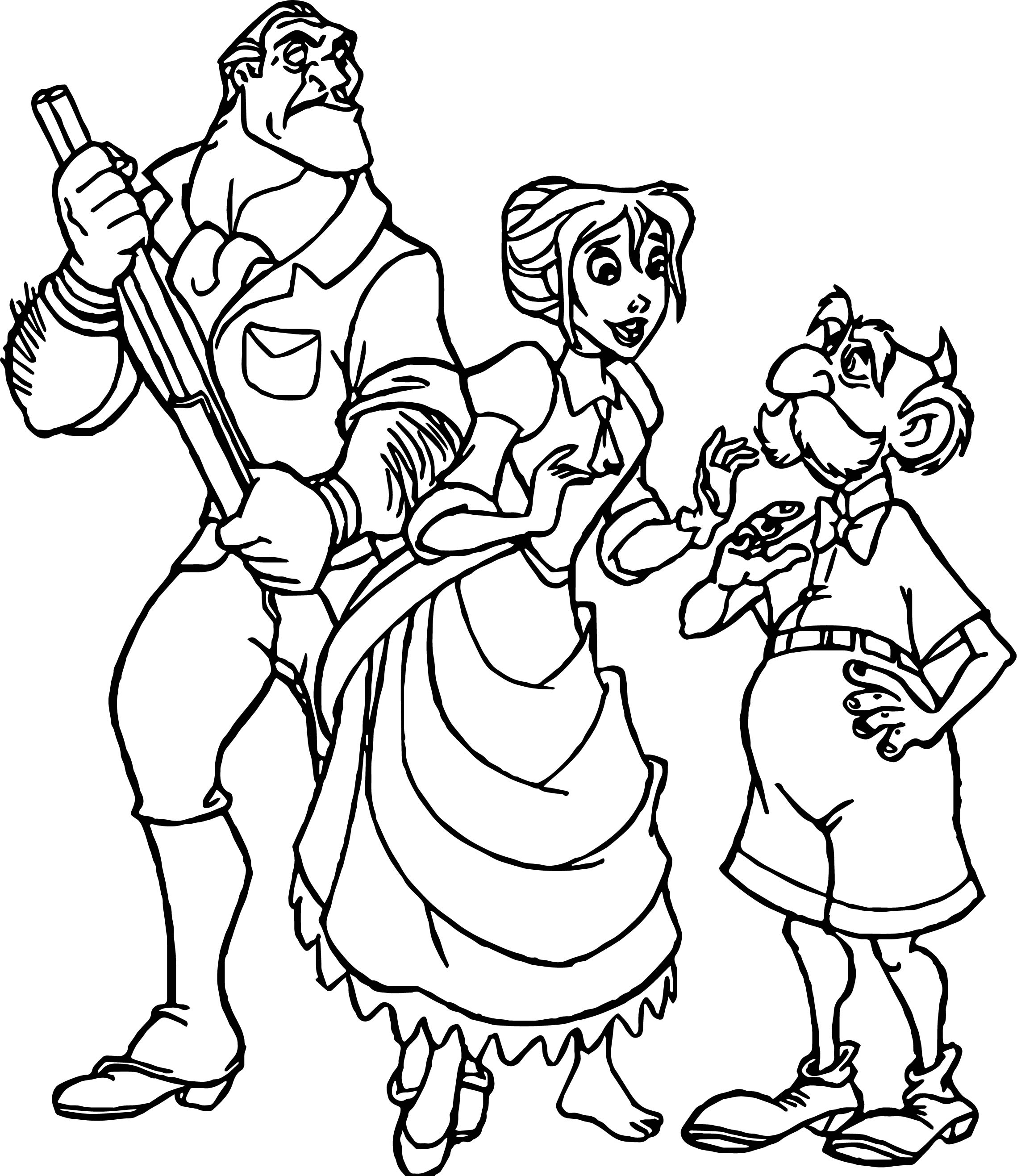 Clayton Jane Father Coloring Page