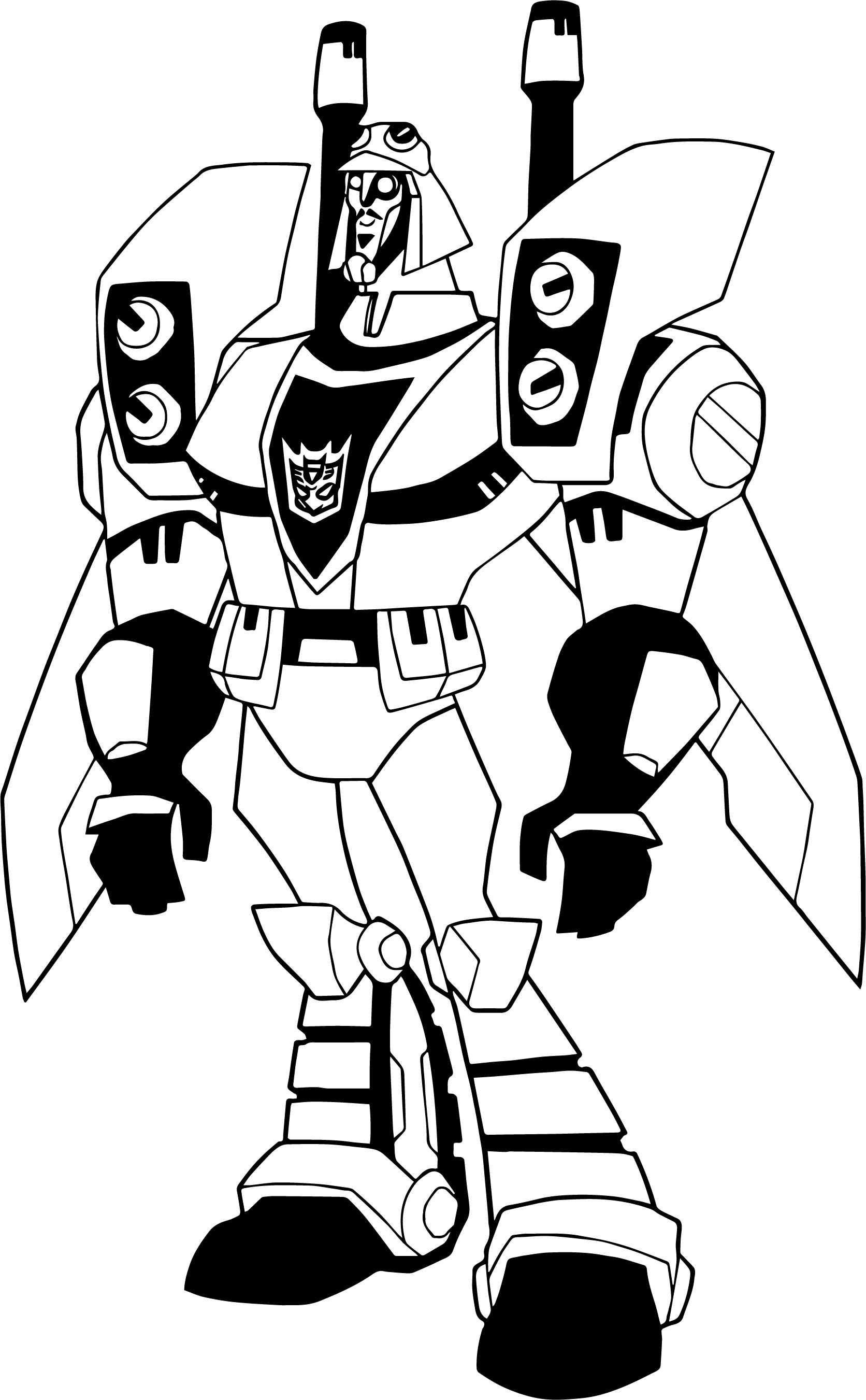 comic transformers coloring page