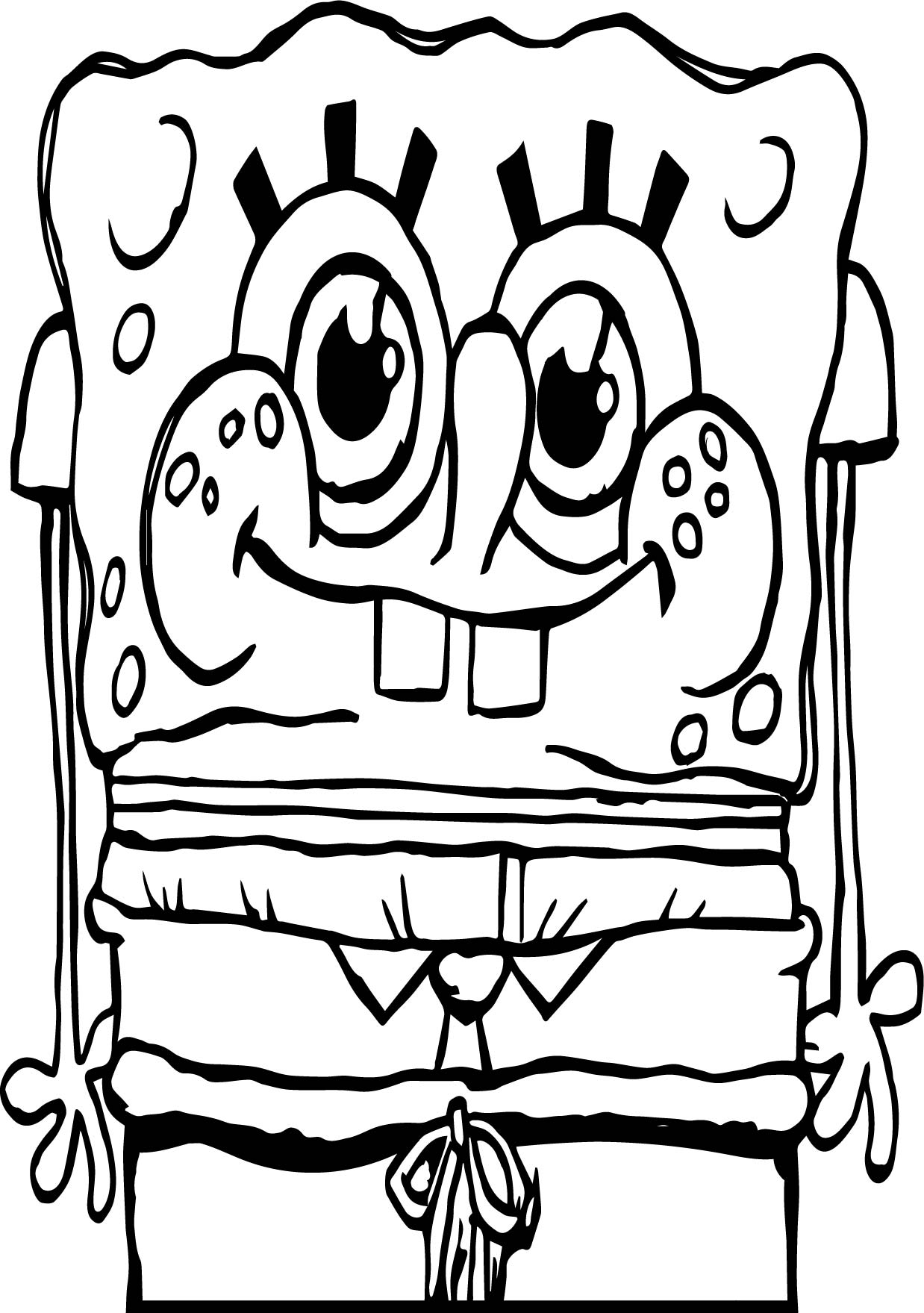 Cool Sunger Bob Underwater Coloring Page