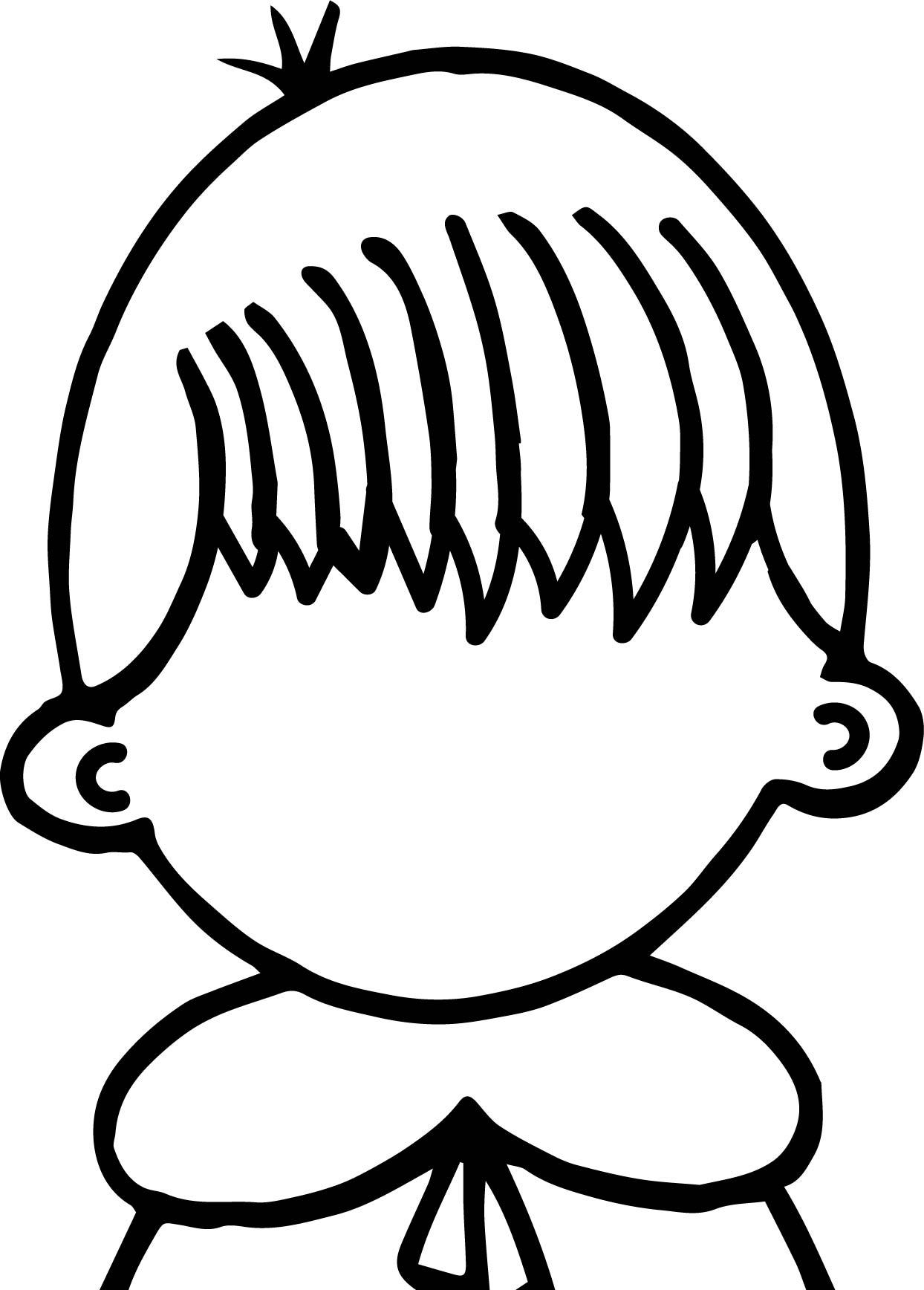 Create Our Face Children Coloring Page | Wecoloringpage.com