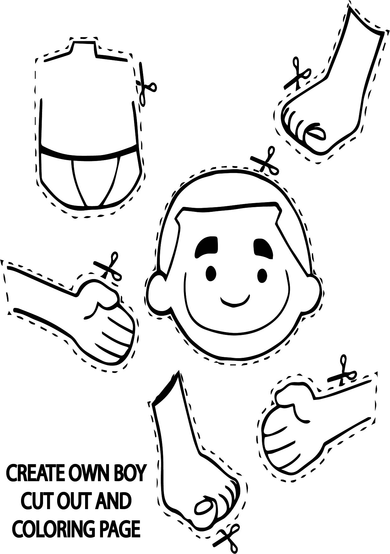 make a coloring page out of a photo create own boy cut out coloring page